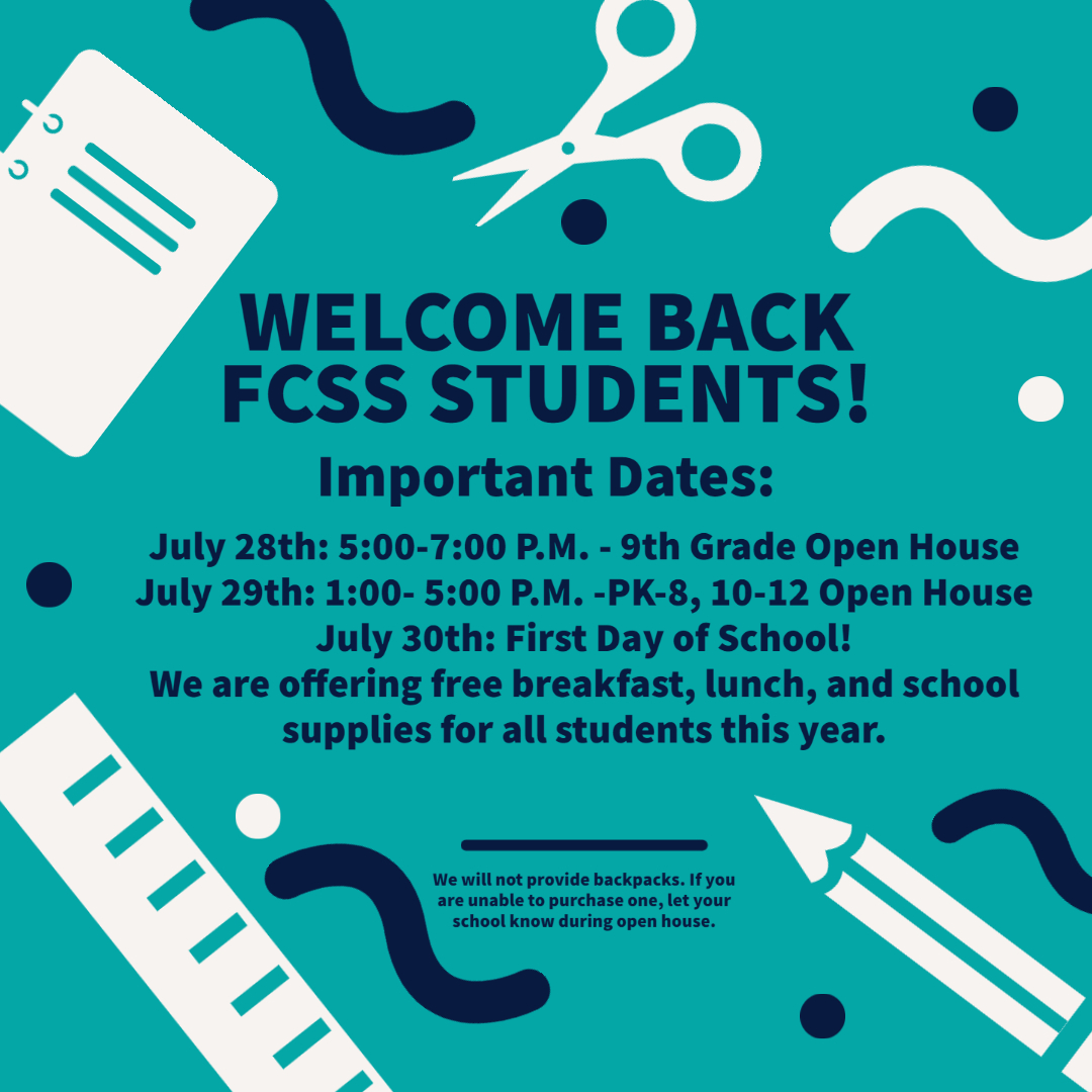 Welcome Back FCSS Students