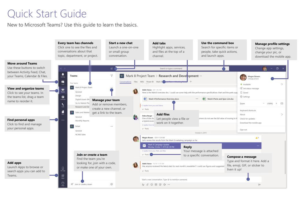 Microsoft Teams Quickstart Guide 1