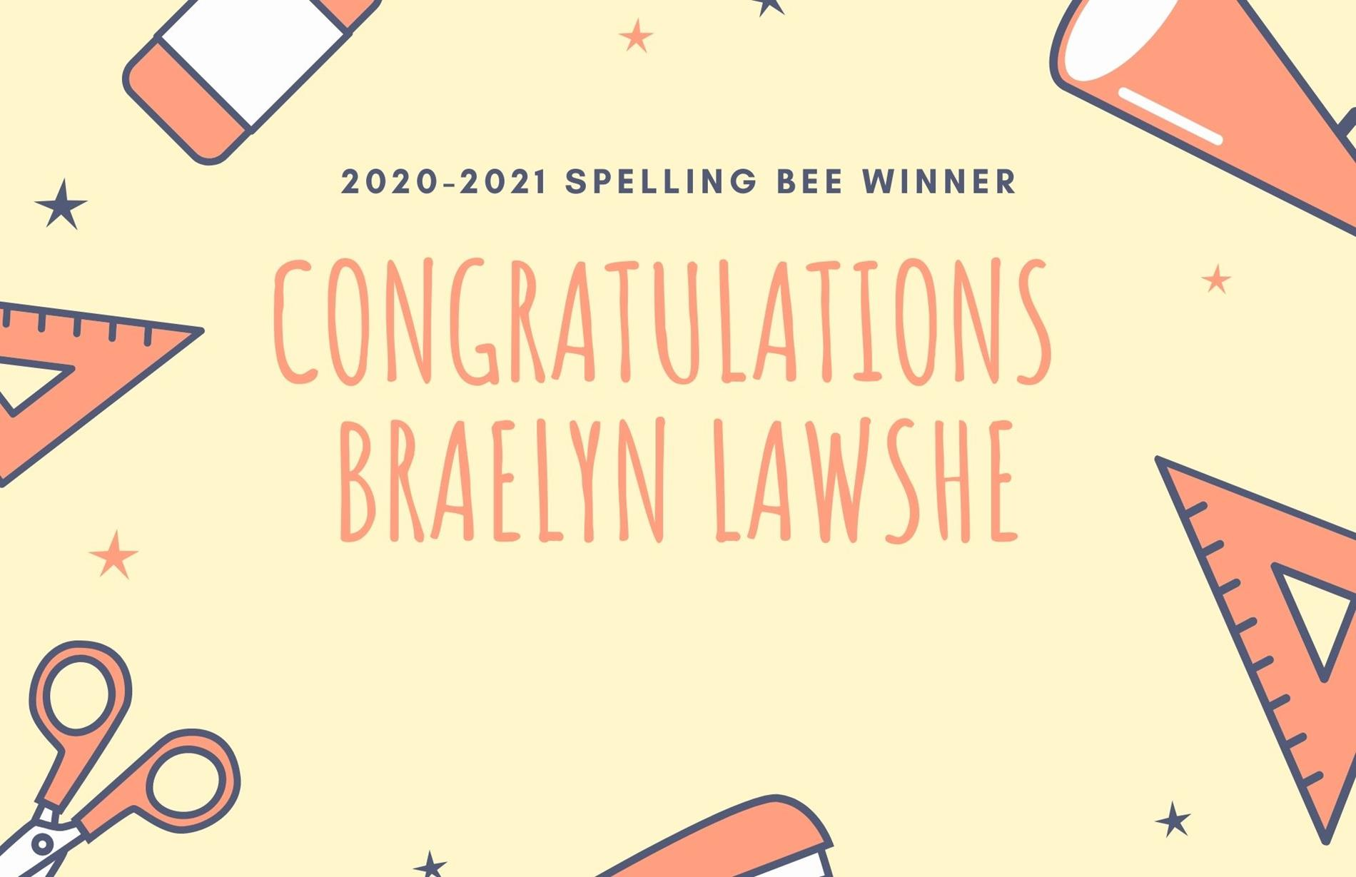 Congrats Spelling Bee