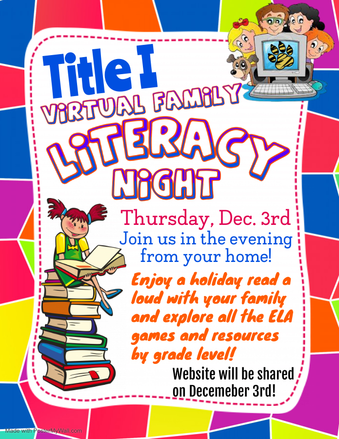 Title I Virtual Family Literacy Night Flyer