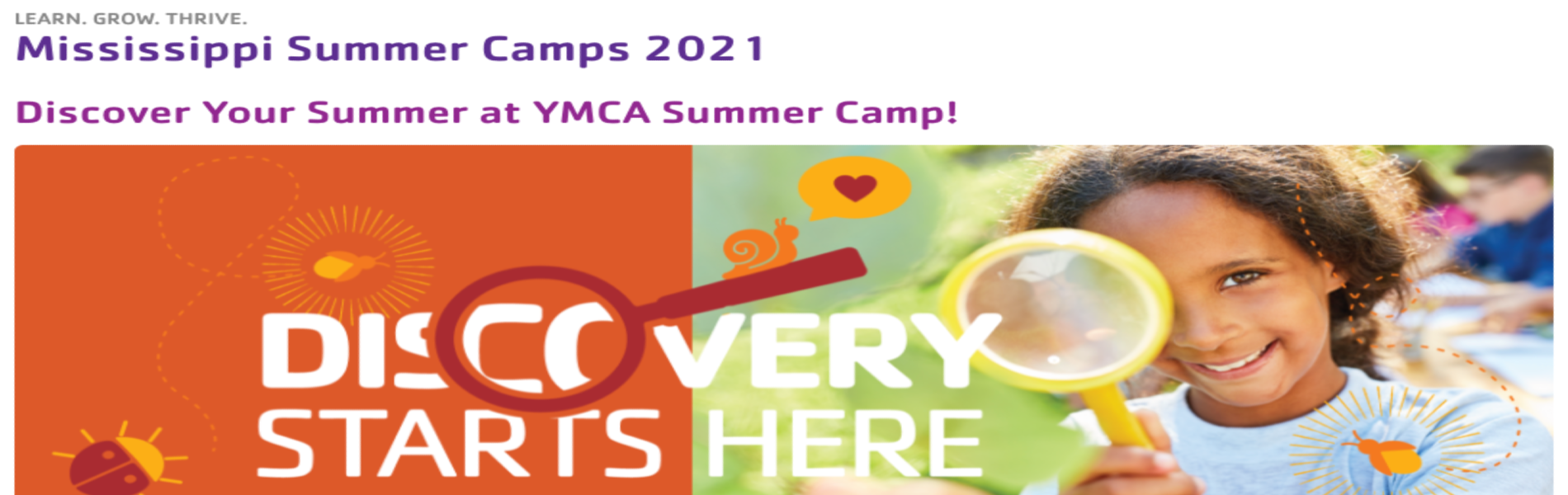 YMCA Summer Camp Flyer & Info