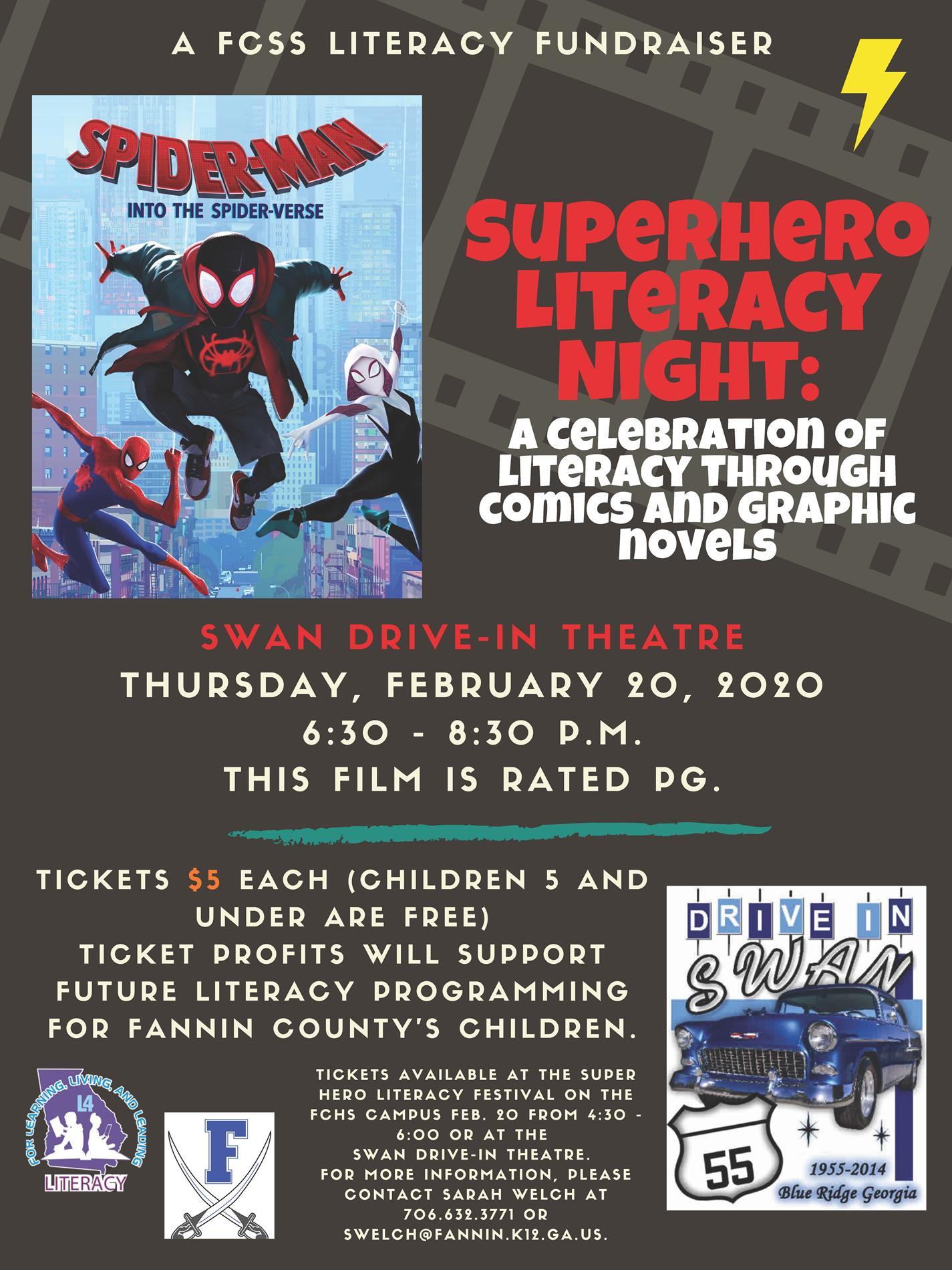 Superhero Literacy Night