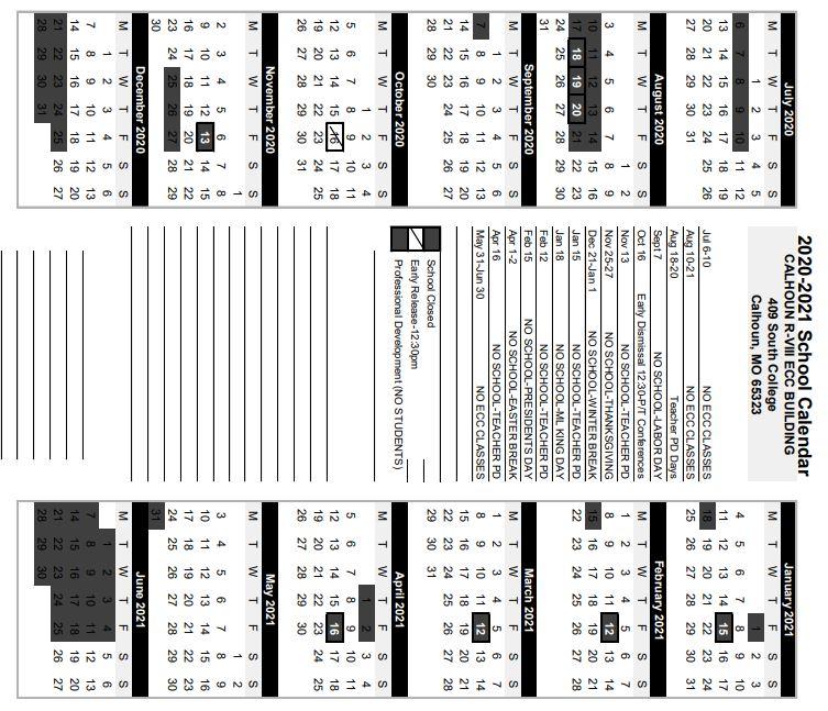 ECC Calendar