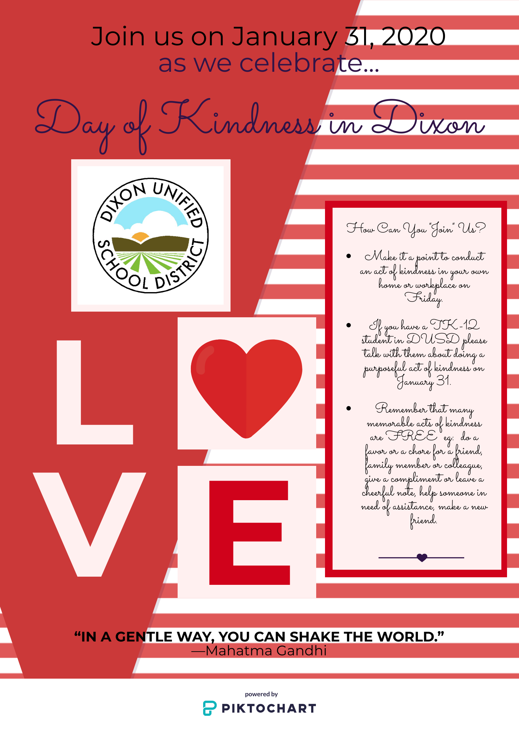 Dixon Day of Kindness January 31st