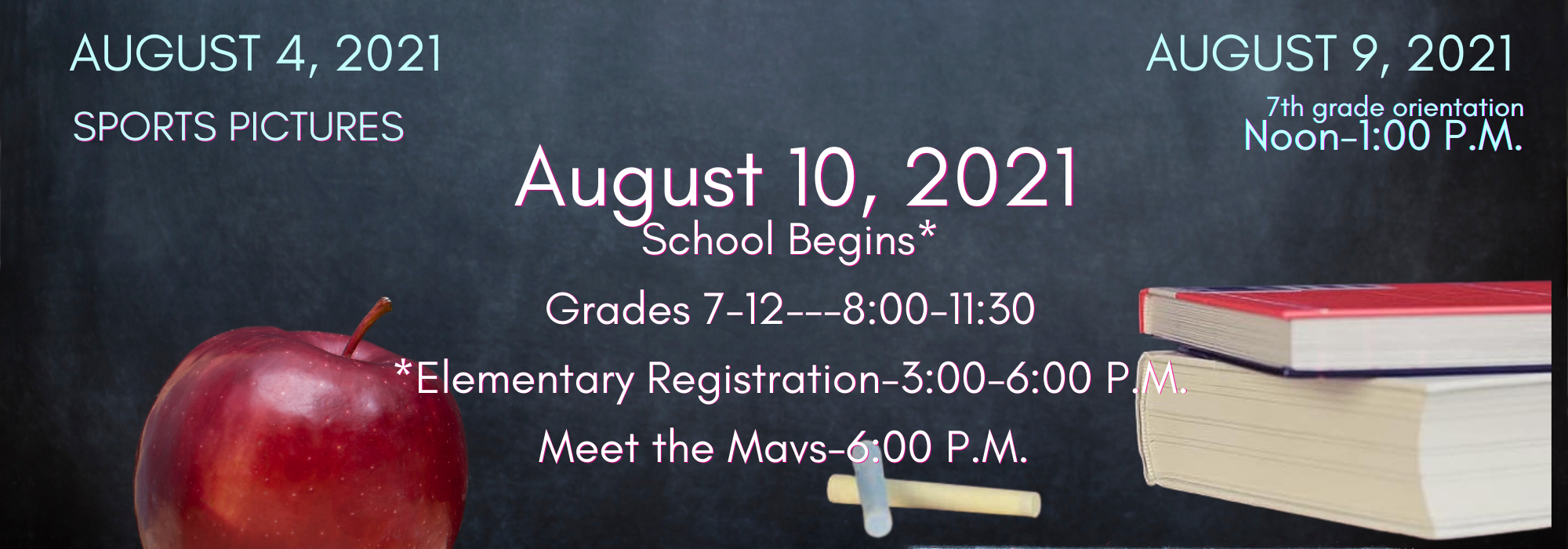 Back to School Dates