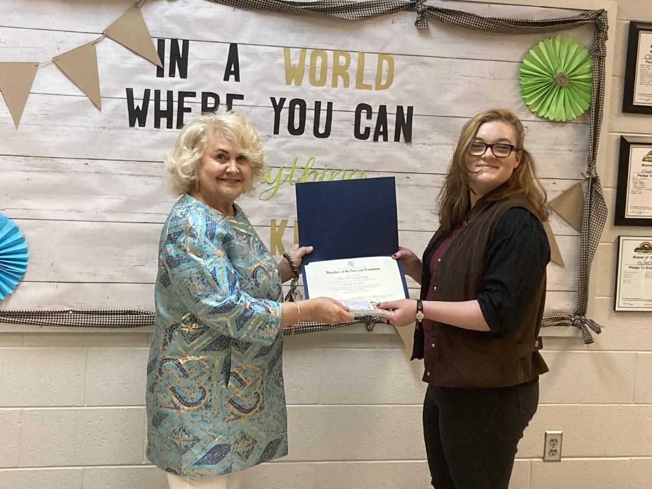 LauraAnne wins DAR Award