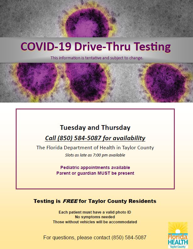 COVID 19 Testing Dates and scheduling information