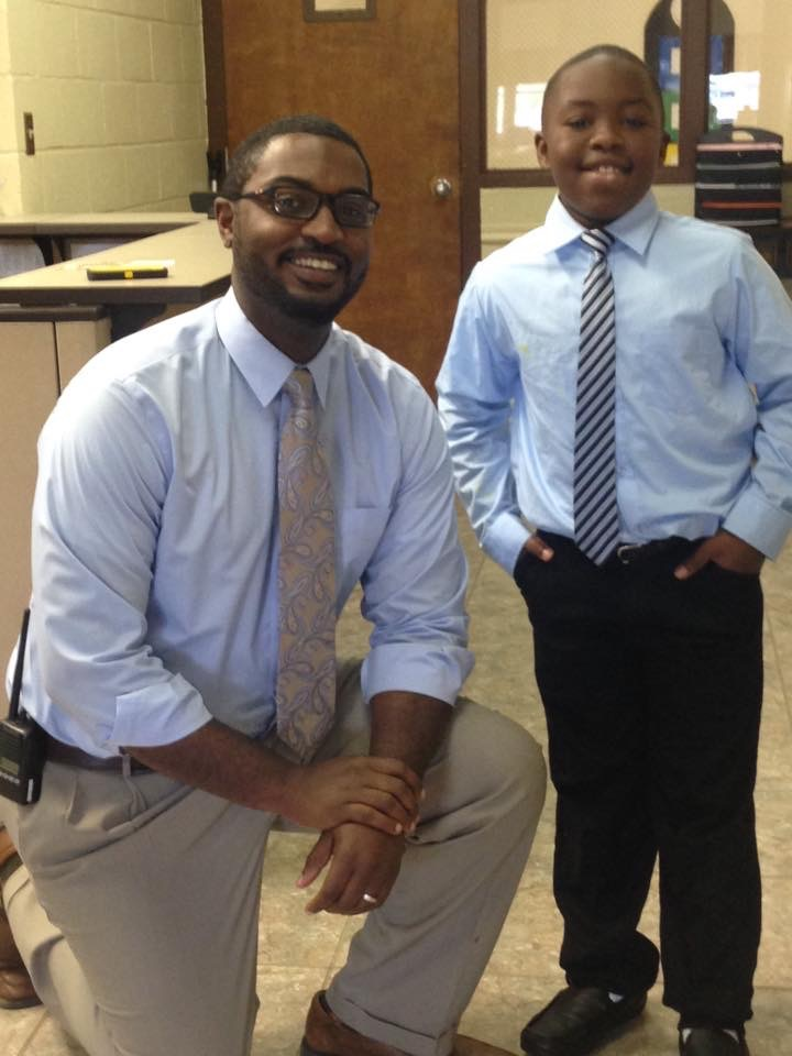 Mr. Kirk gives advice to the principal of the day!