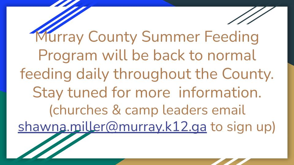 Summer Feeding Program