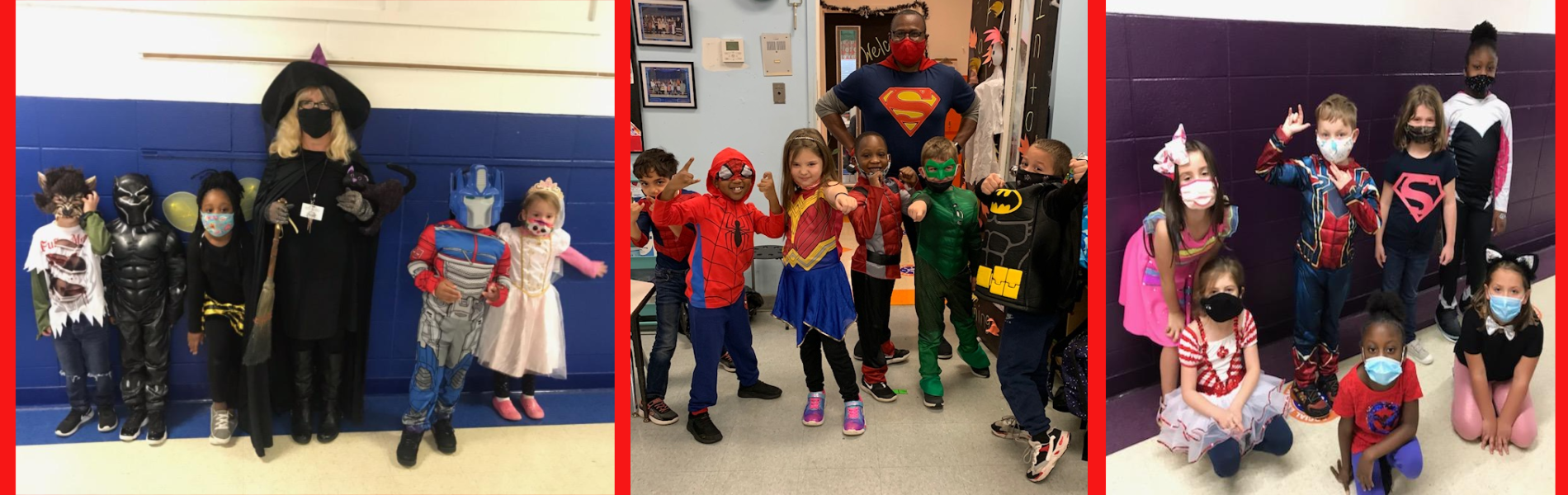 Students dresses in costumes for Red Ribbon Week