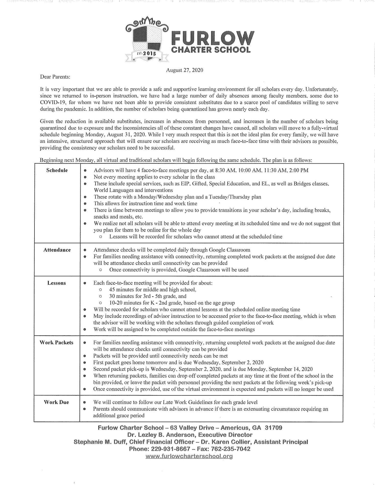 Parent Letter - Virtual Move Pg 1