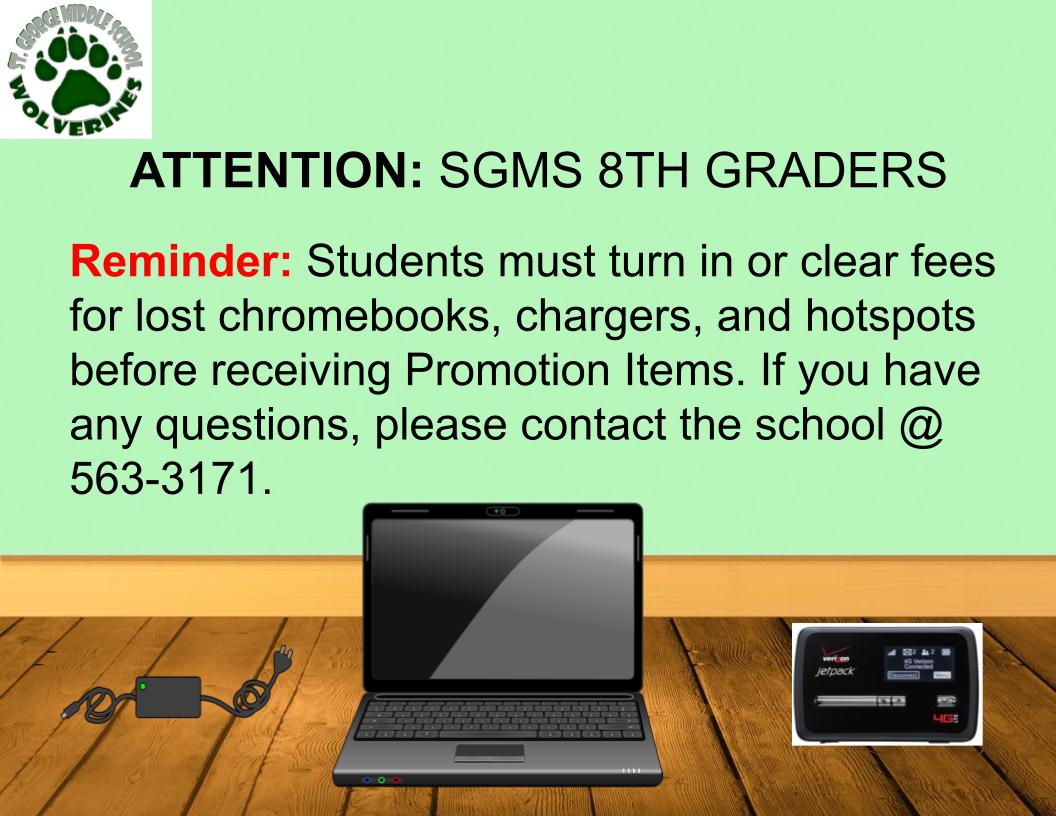 8th Grade Reminder