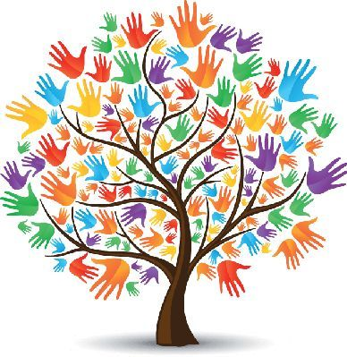 colorful handprint tree