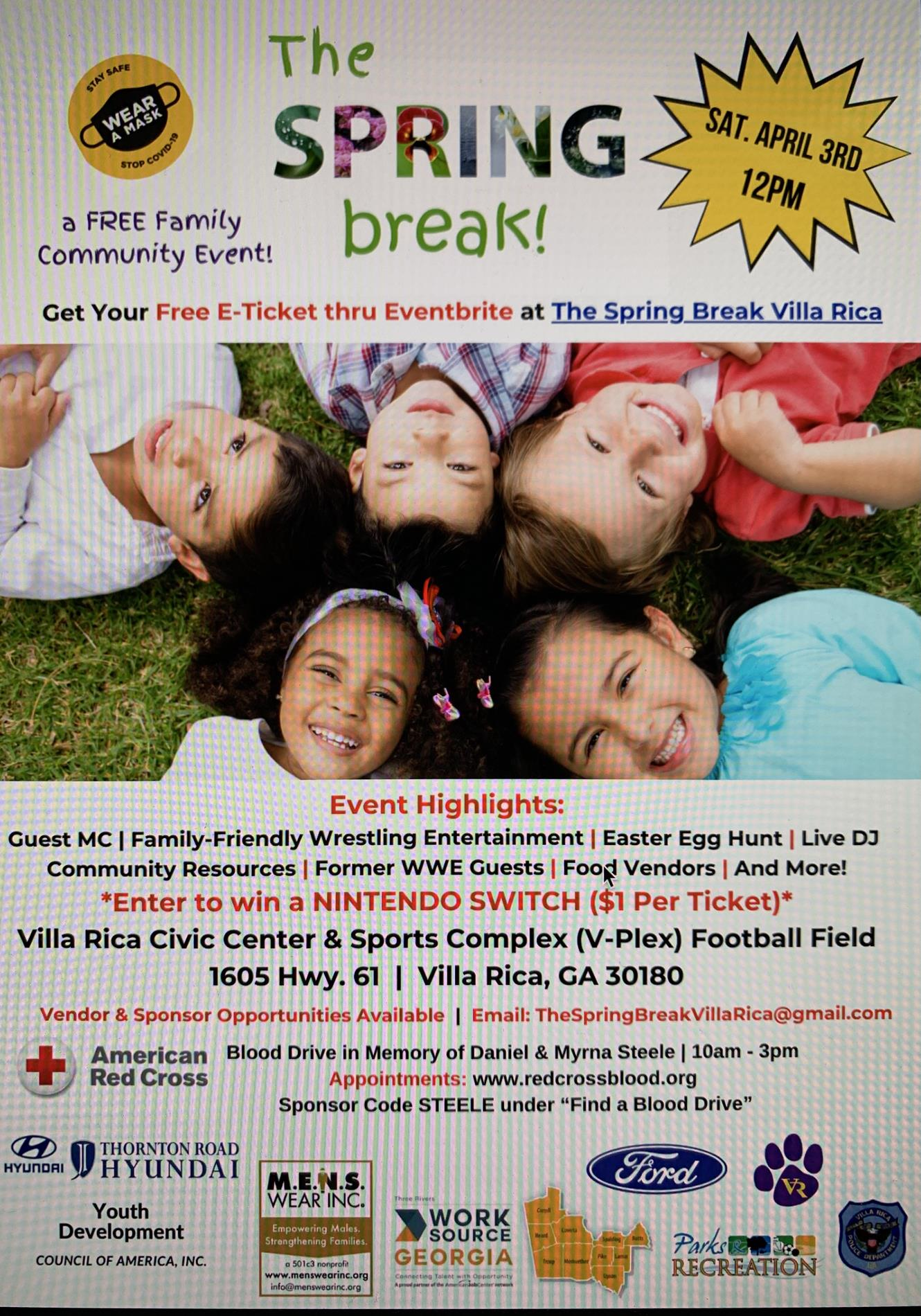 spring break activity flyer
