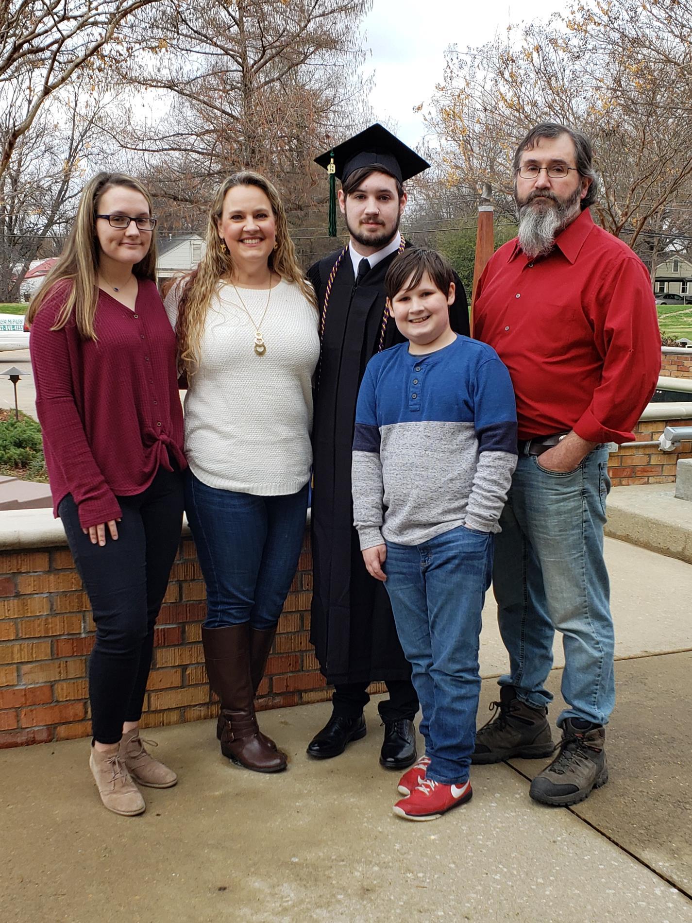 Fam at Graduation