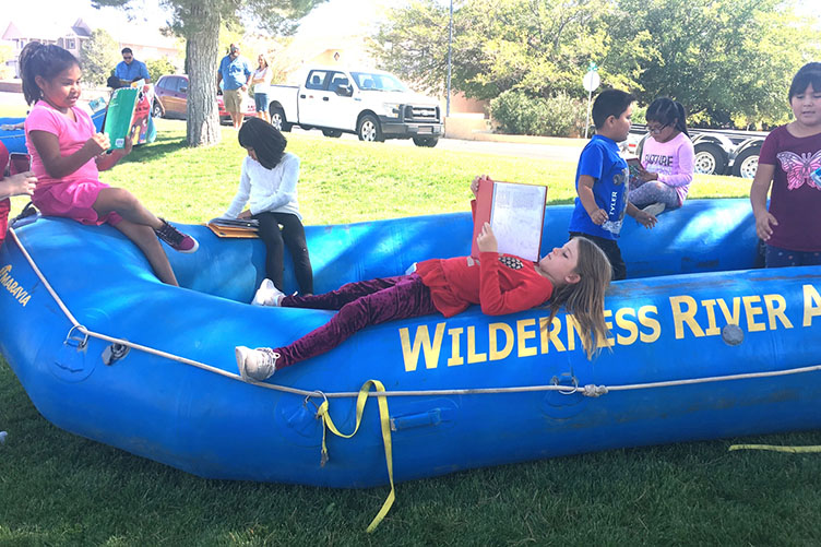 reading in rafts