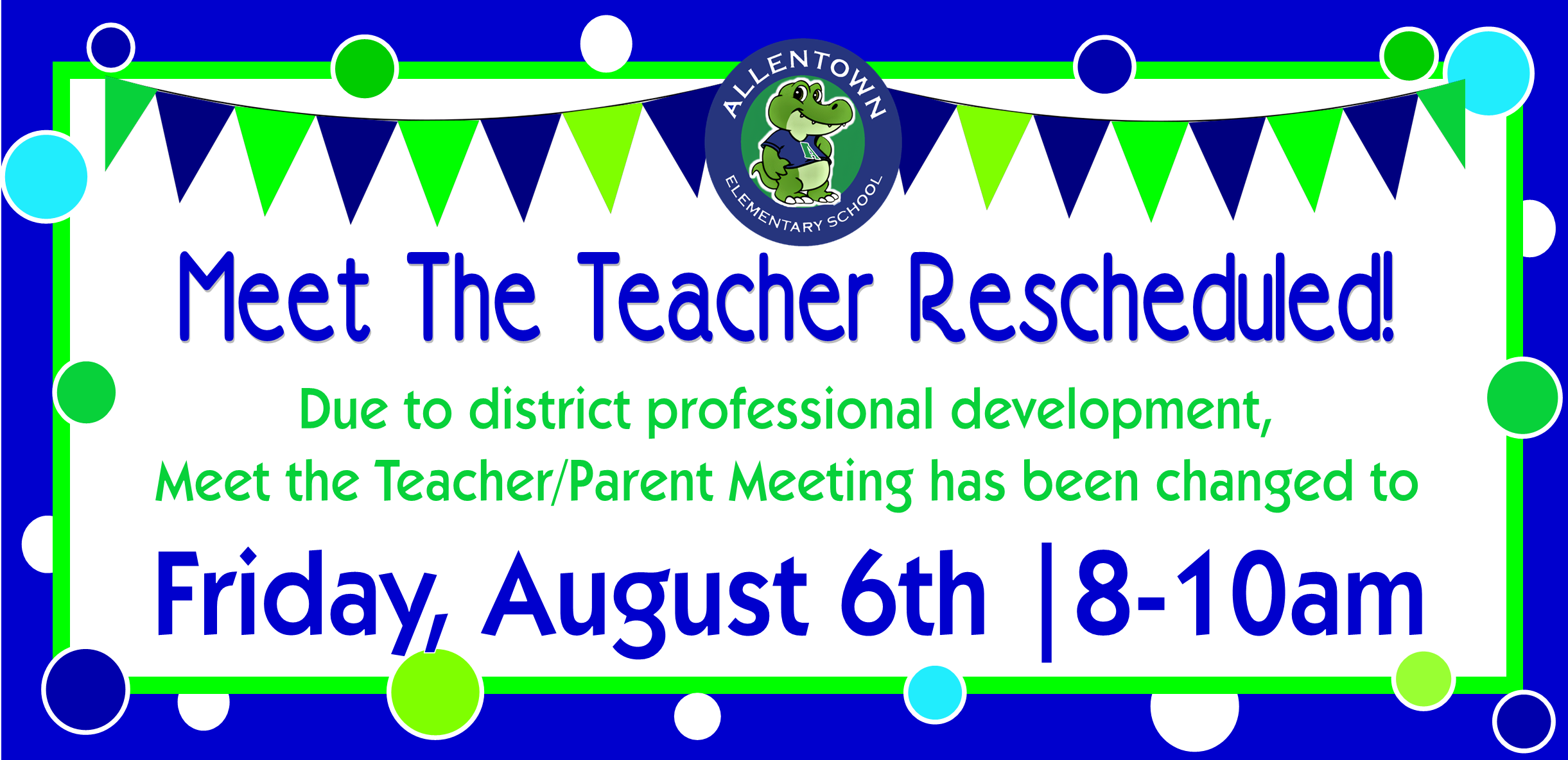meet the teacher Aug 6th 8-10am