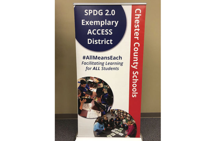 The Chester County School District was recently awarded the banner pictured above, for being selected as one of only five districts to be identified as a Tennessee Exemplary ACCESS District, and it features Chester County students and faculty using the learning strategies which helped earn Chester County the honor.