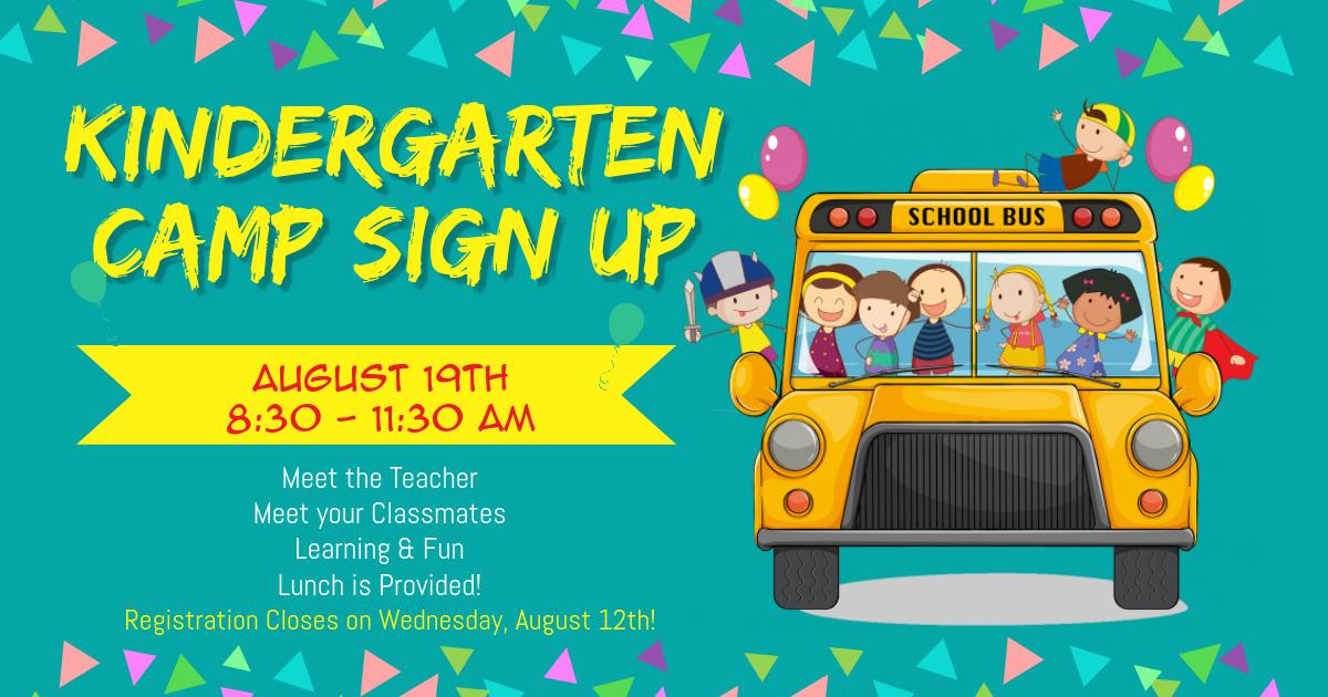 Kindergarten Camp Sign UP