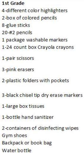 1st supplies