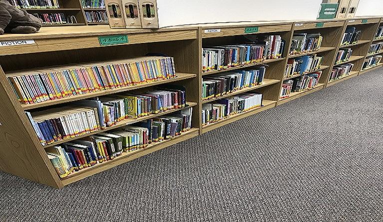 Old bookshelves left