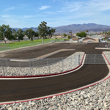 image of new staff parking lot