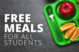 Free meals for all picture with lunch tray