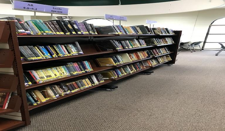 New bookshelves