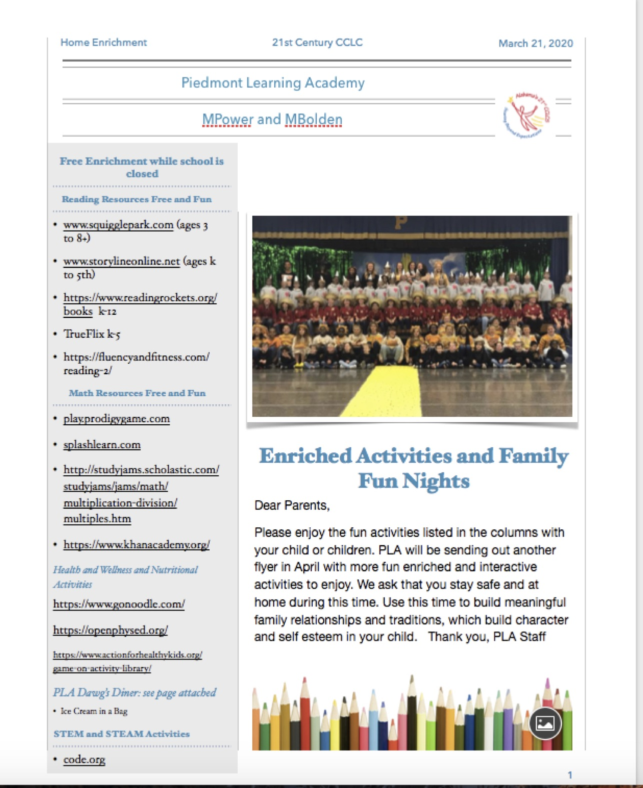 Picture of the March Newsletter