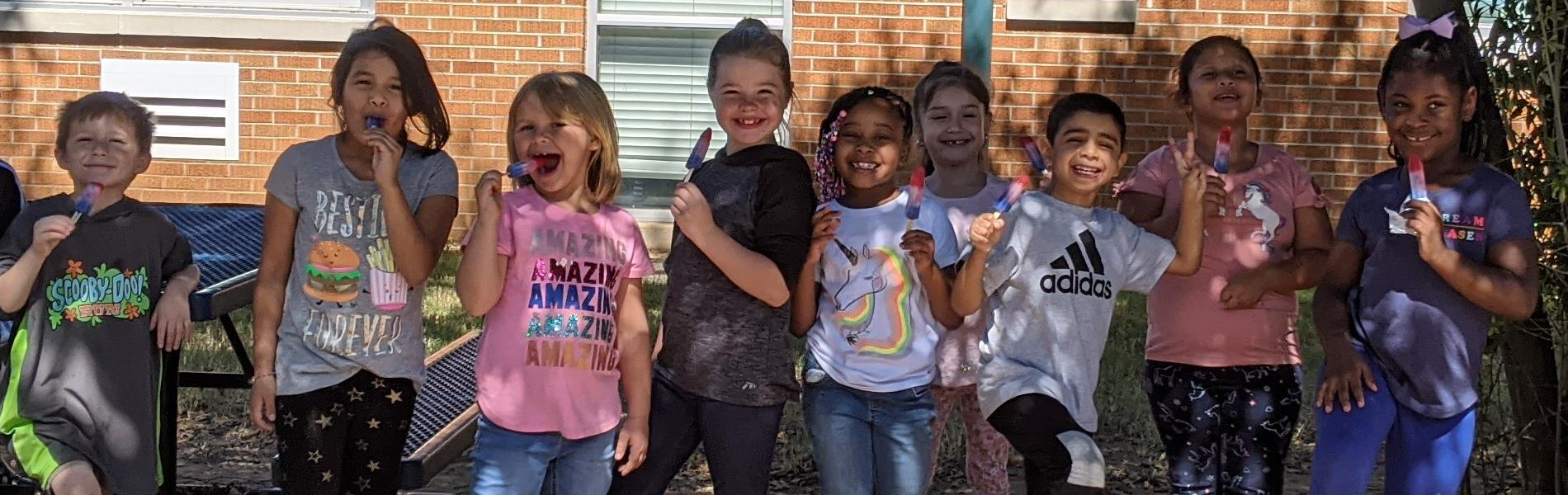 Students enjoyed some treats at recess