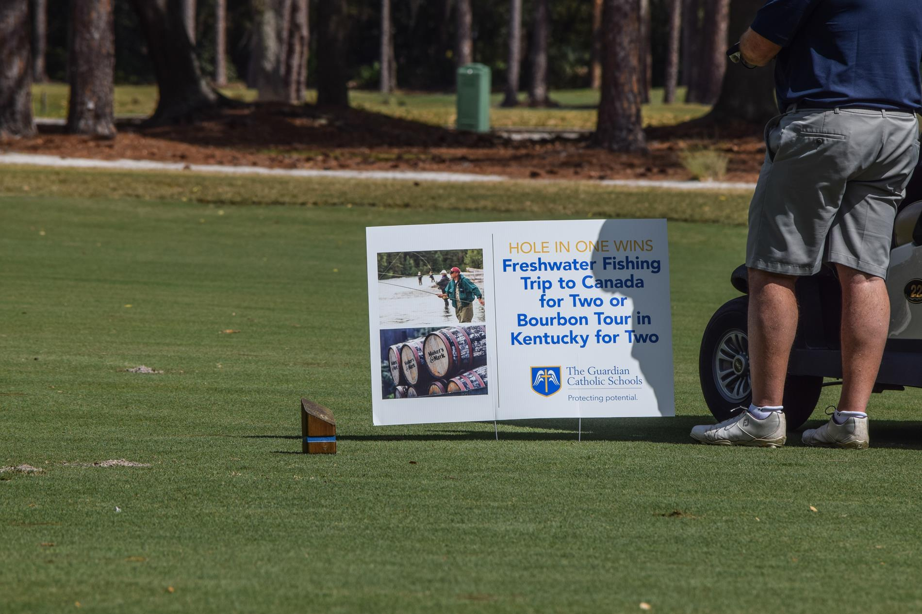 Guardian Catholic Advertisement on the Golf Course