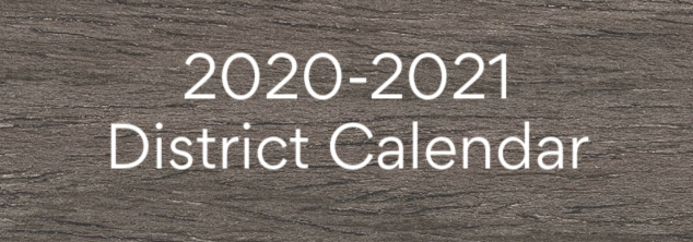 2020-2021 district calendar box with link