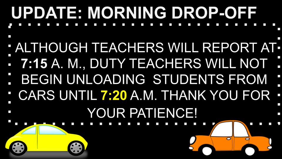 DROP OFF TIMES