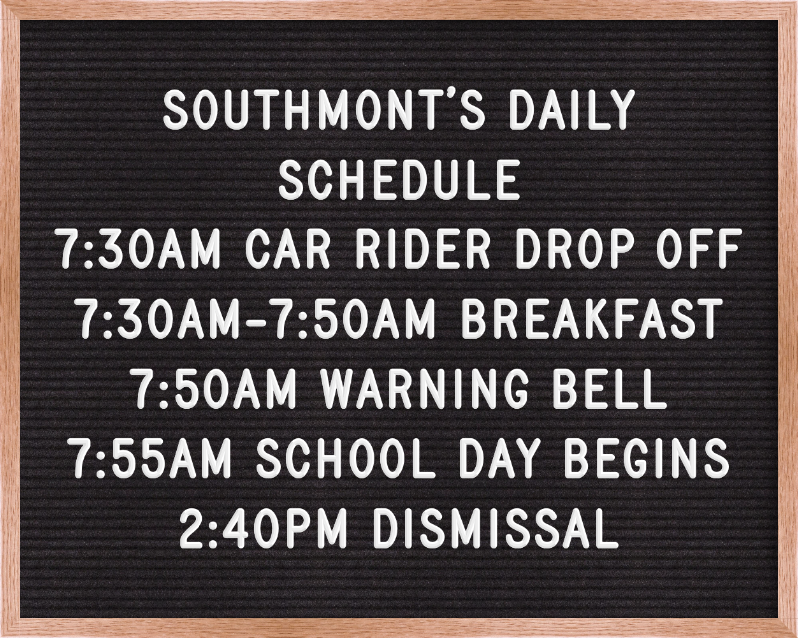 SMES Daily Schedule