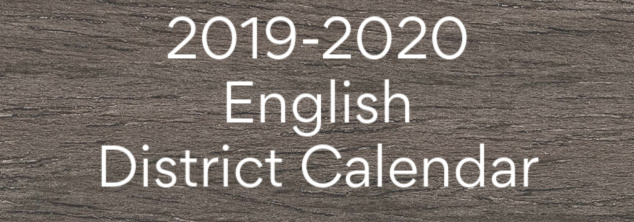 2019-2020 district calendar box with link