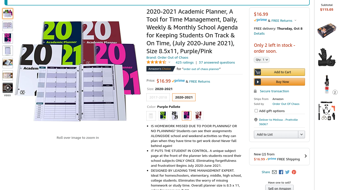 Best student planner I've seen--bought for my own daughter for the last four years!