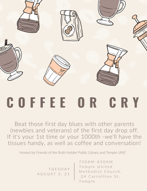 Coffee or Cry Flyer