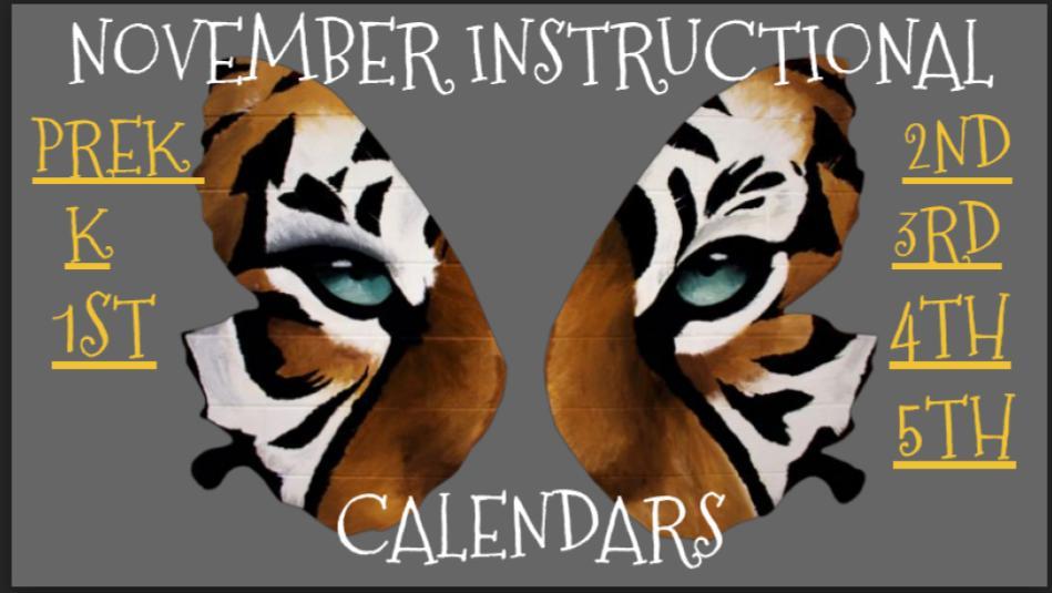 November Instructional Calendar