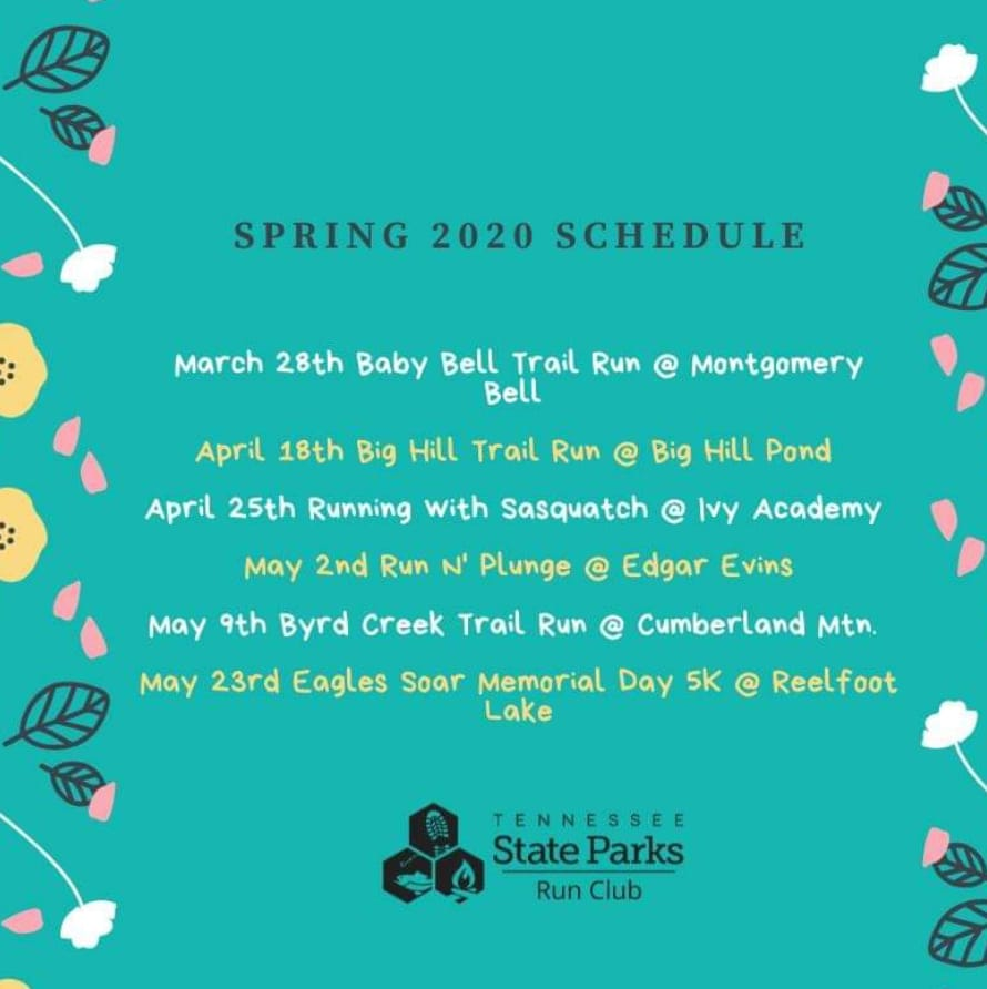 spring 2020 run club schedule