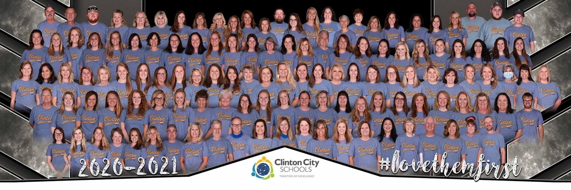 Clinton City Schools Staff group photo