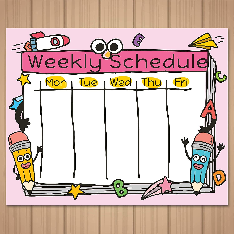 Schedule cartoon