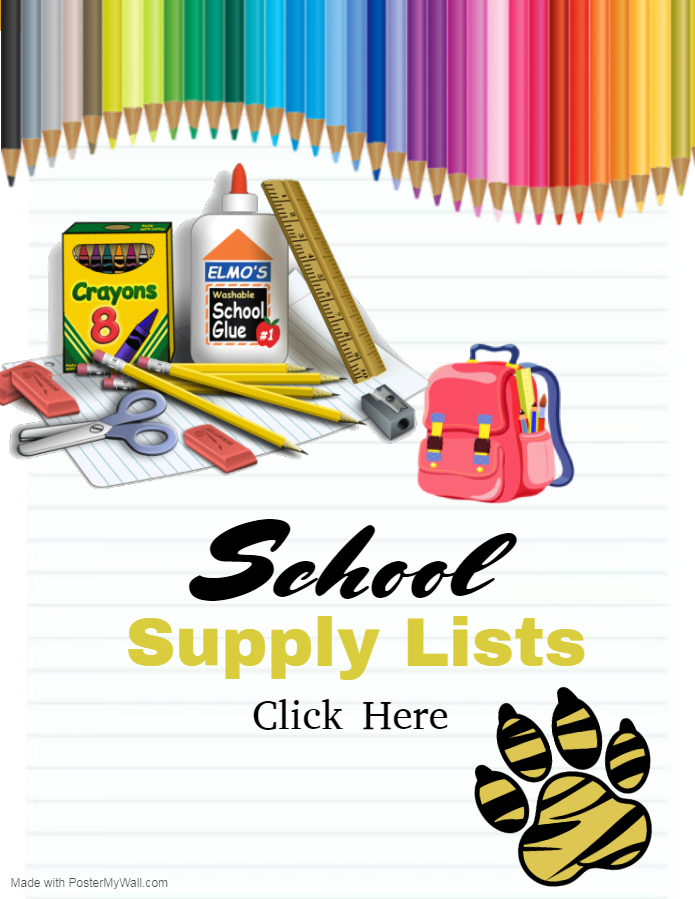 PES School Supplies List Flyer