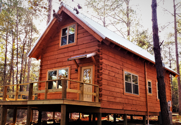 cabin for rent at Blakeley State Park