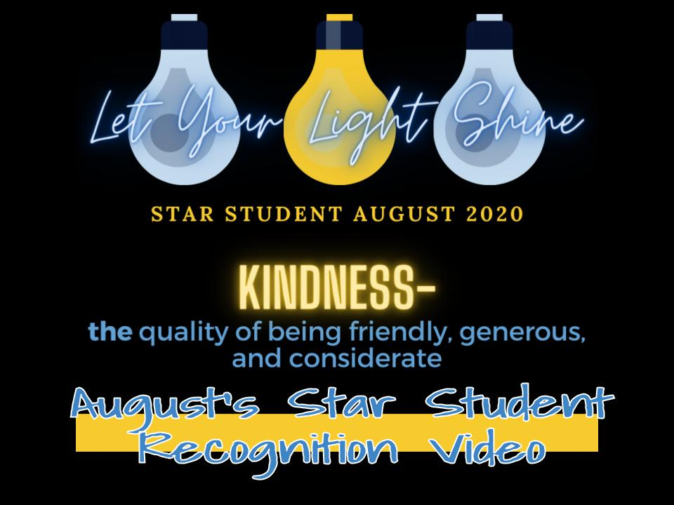 Star Student August Video
