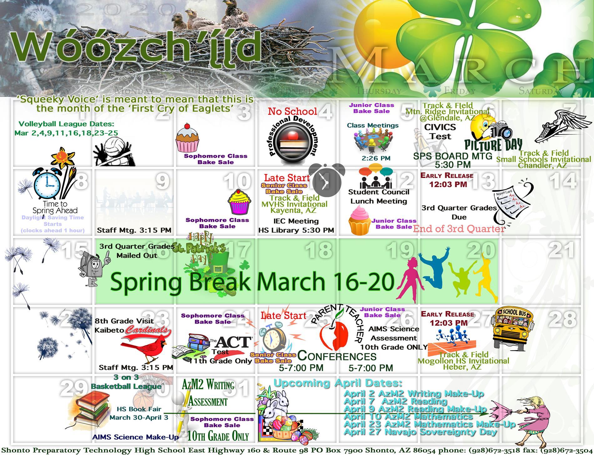 March HS Calendar