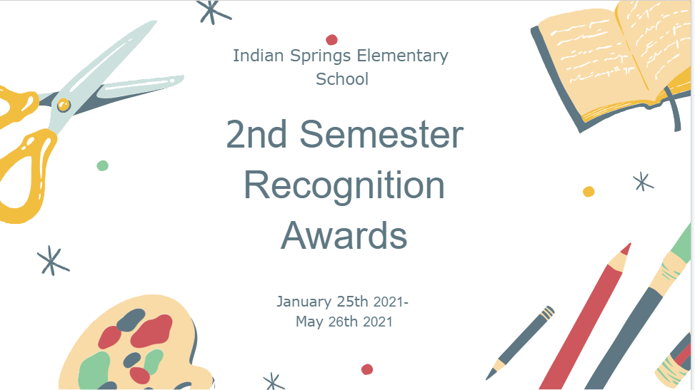 Second Semester Recognition Awards