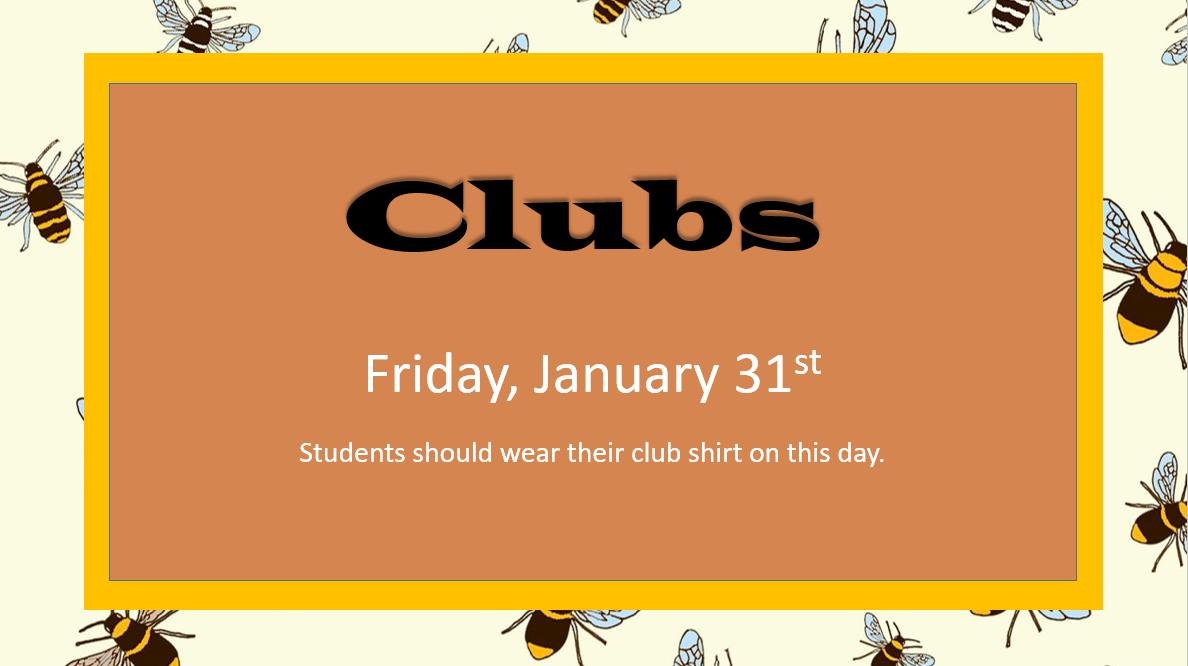 clubs Jan. 31
