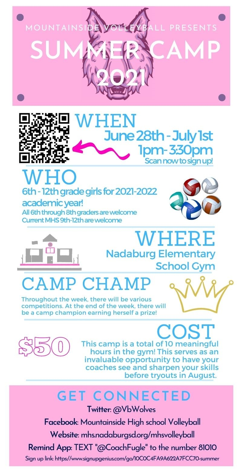 MHS Summer Volleyball Camp