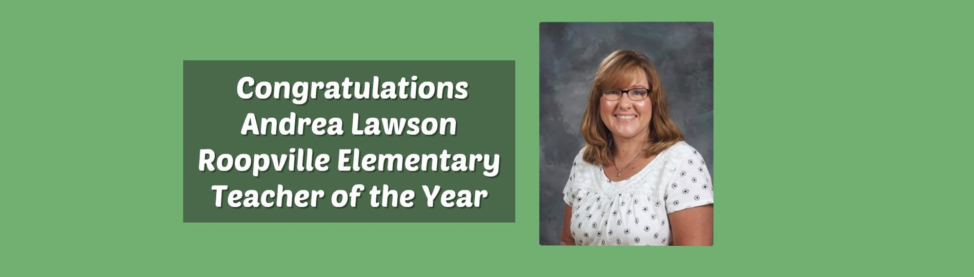 Andrea Lawson Teacher of the Year