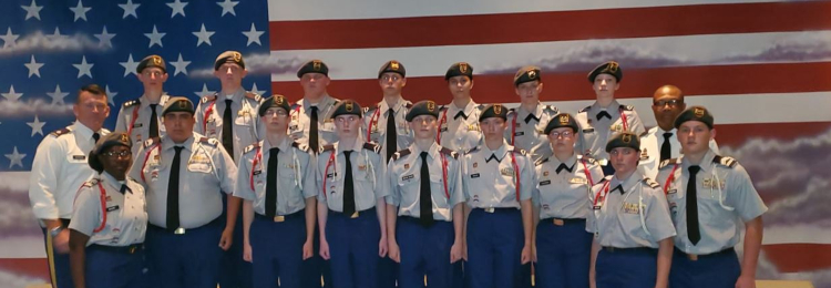 TCHS  JROTC students and leaders
